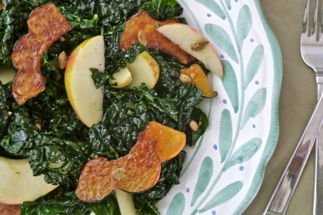 Caramelized Squash and Kale Salad