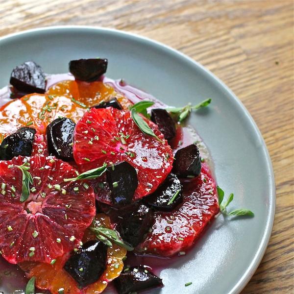 Winter Citrus Salad & Maple Vinaigrette