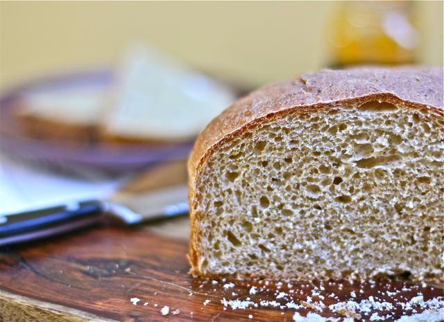 Easy Whole Wheat Boule with Fennel Seed