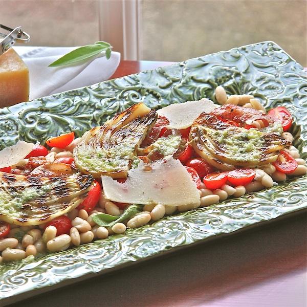 Grilled Fennel-Bean Salad & Lemon Dressing