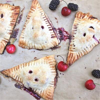 Blackberry-Cherry Turnovers