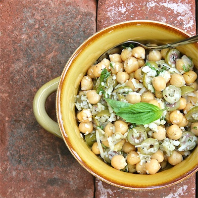 Chickpeas, Garlic and Olives