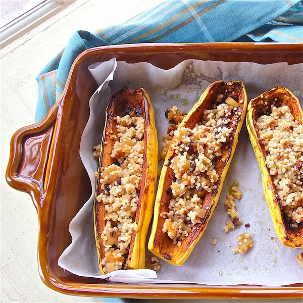 Spicy Squash Boats with Fruity Quinoa : The Wimpy Vegetarian