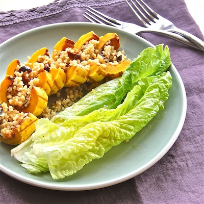 Spicy Squash Boats with Fruity Quinoa Pilaf : The Wimpy Vegetarian