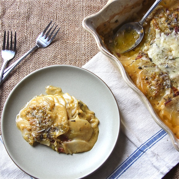 Potato and Fennel Gratin with Leek Confit : The Wimpy Vegetarian