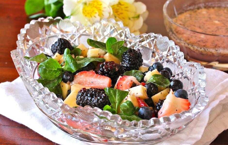 Berry-Pineapple Salad & Poppyseed Dressing