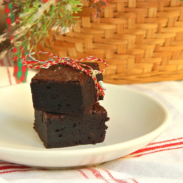 chocolatey chocolate brownies from Alice Medrich