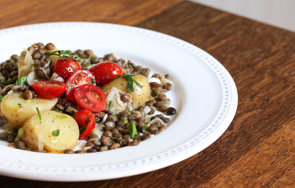 Vegan Lentil and Potato Salad