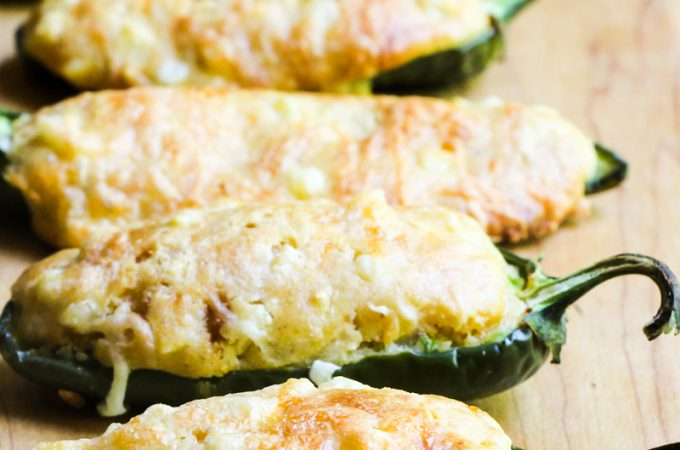Jalapeño Poppers Stuffed with Cornbread