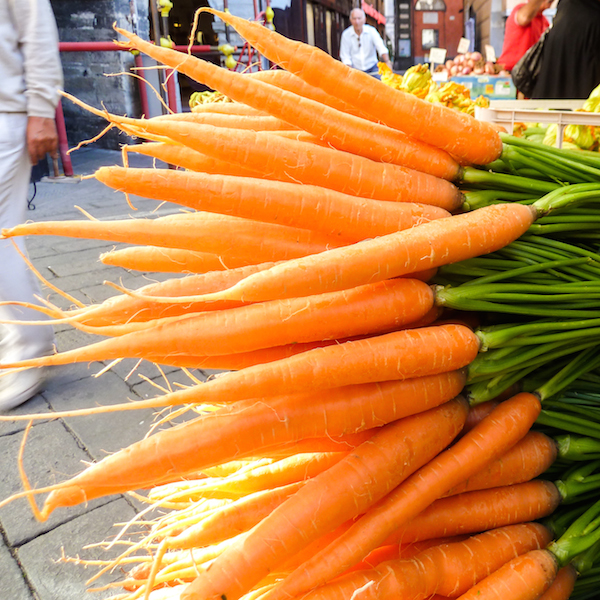 Carrots at a Farmer's Market in a small Italian town, 2012