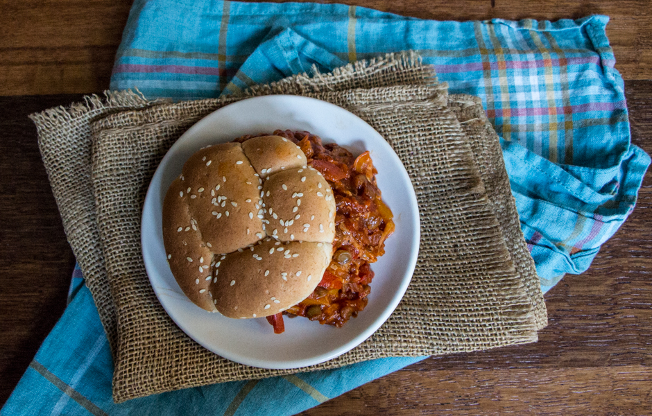 Sweet and Smoky Lentil Sloppy Joes: #WeekdaySupper #McSkilletSauce