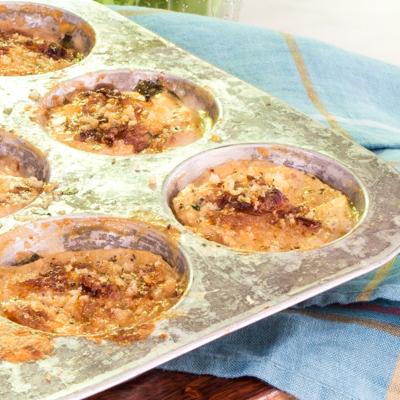 http://www.jade88.com/recipes/mini-potato-gratins-mustard-greens