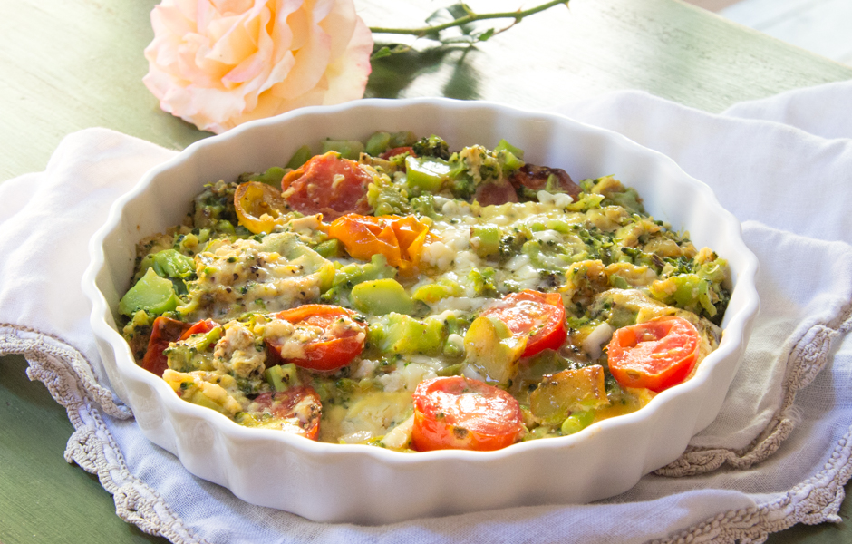 Broccoli Cheddar Frittata with Tomatoes: #SundaySupper | The Wimpy ...