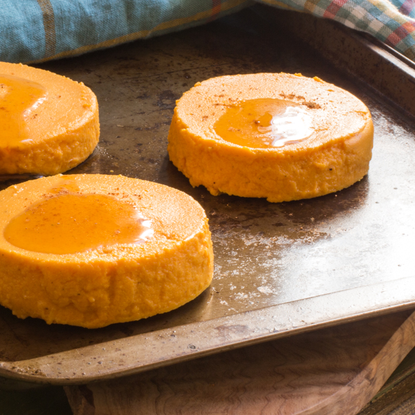 Maple Carrot Flan syrup