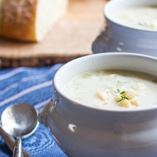 Clam chowder with flavors of the Islands from coconut milk and lemongrass.