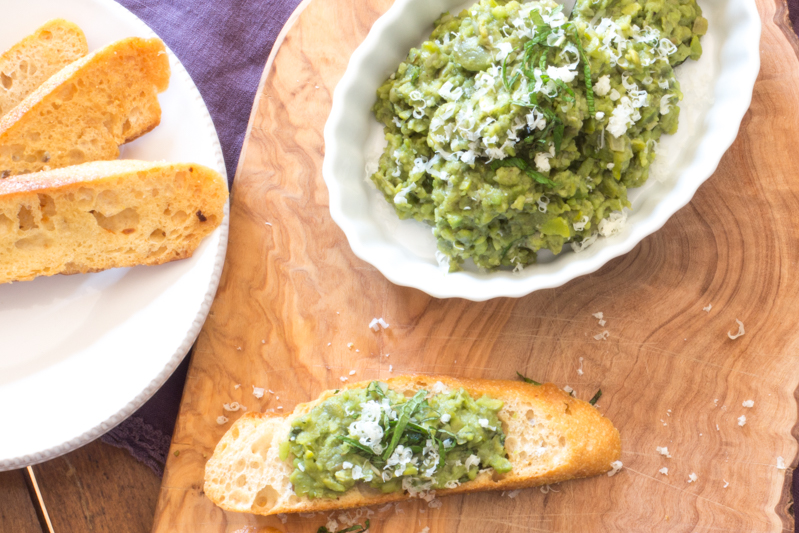 Mashed Fava Beans and Mint Crostini | #WeekdaySupper | The ...