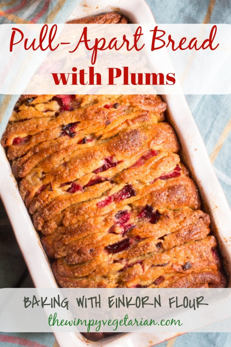 Pull Apart Bread with Plums | The Wimpy Vegetarian