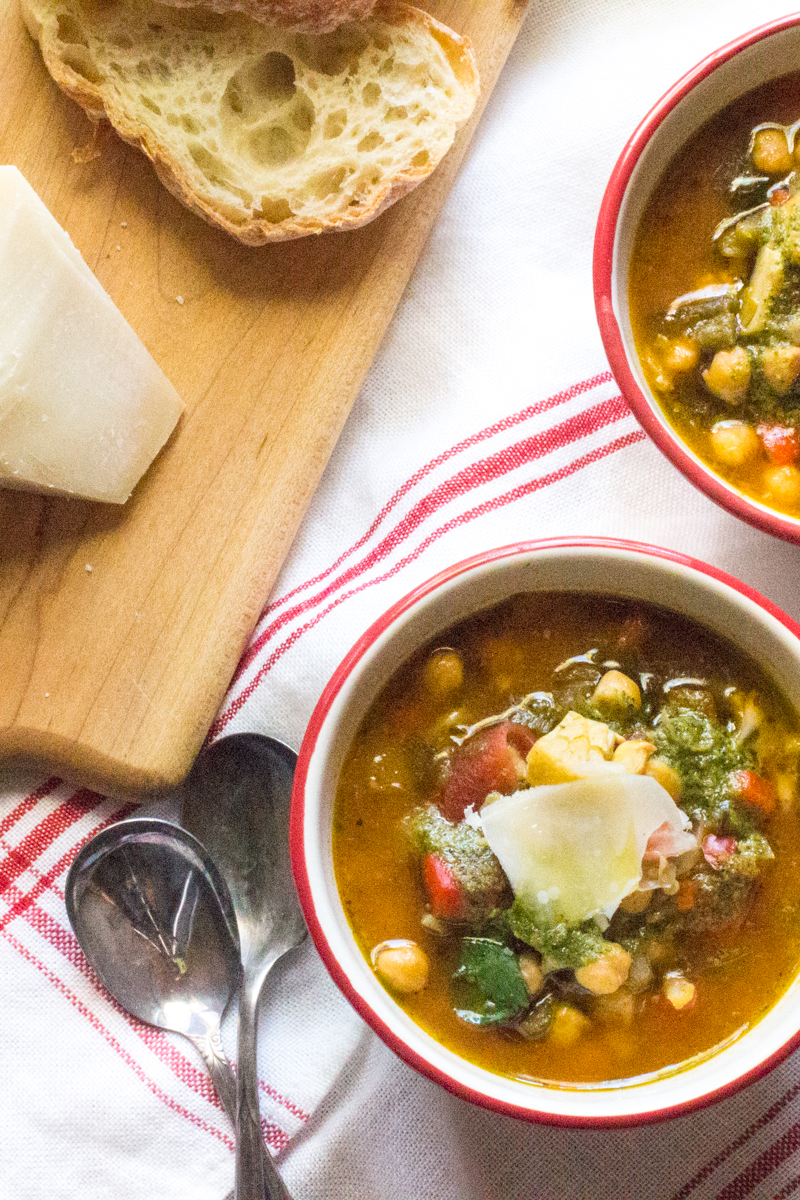 Italian Chickpea Stew with Swiss Chard | The Wimpy Vegetarian