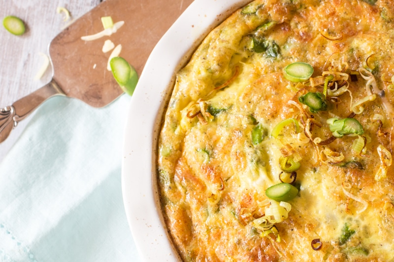 Light Asparagus-Gruyere Quiche with Hash-Brown Crust | # ...