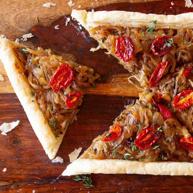 BEGINNER'S FRENCH ONION TART WITH MUSHROOMS